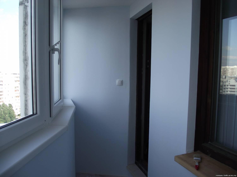 Варианты отделки стен балкона - разновидности и особенности .