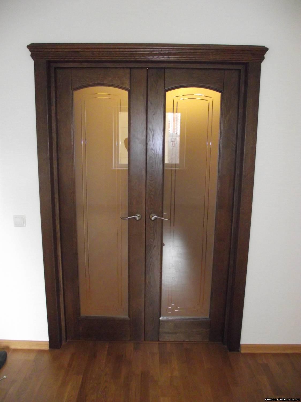 Красиво двойные двери в комнату дизайн и